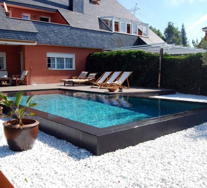 Piscina desbordante tipo zen piscinas oscer - Piscina ajalvir ...