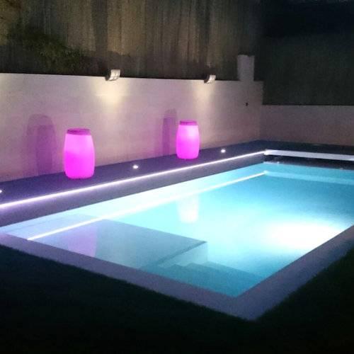 Iluminación piscina