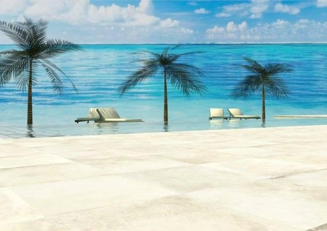 Diseño de piscina desbordante infinita