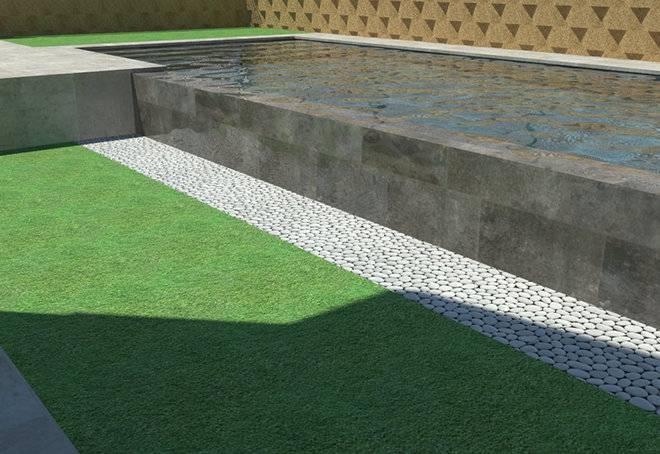 Infografía de piscina desbordante por el lateral