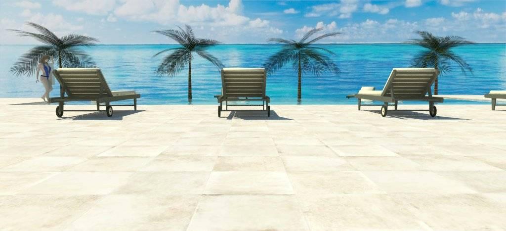 3d de piscina infinita con playa