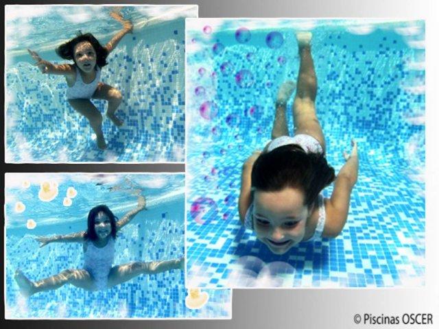 Agua de piscina saludable con clorador salino