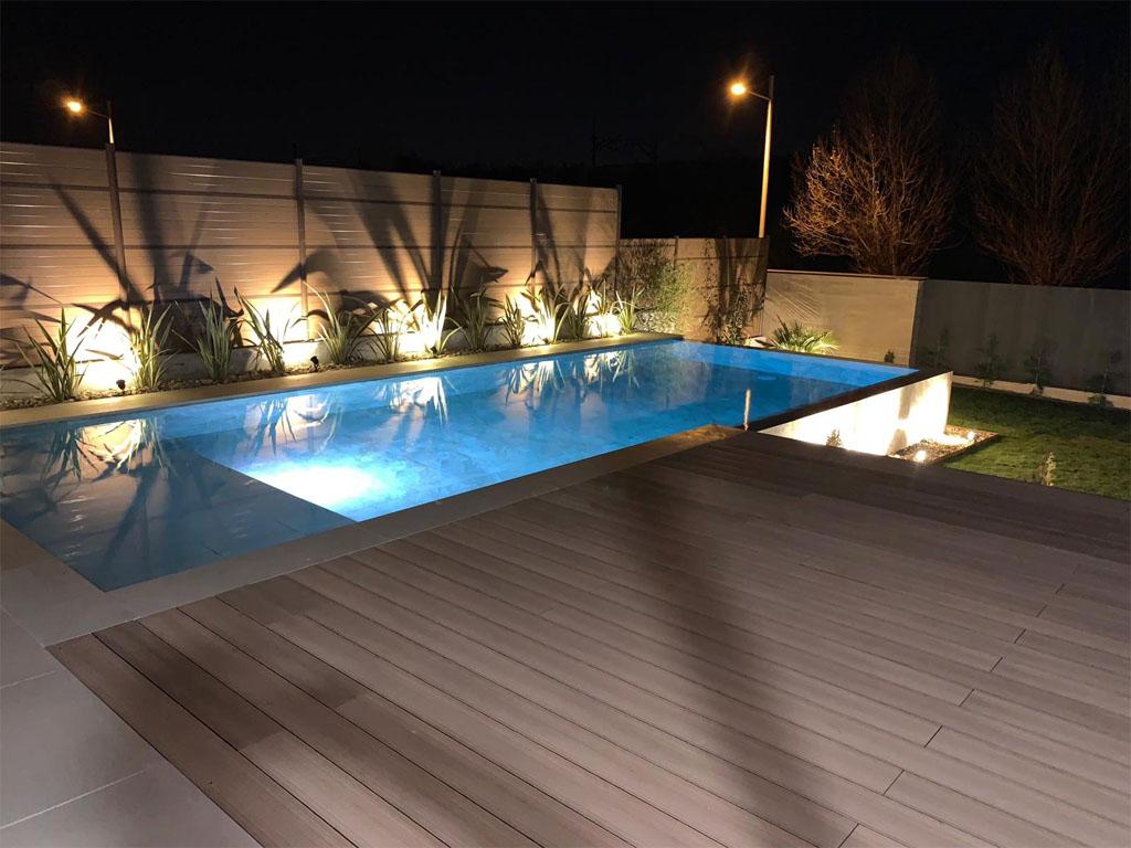 Iluminación piscina y jardín