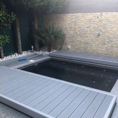 Cubierta transitable piscina
