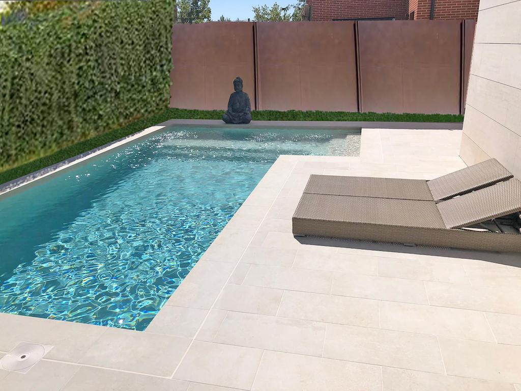 Una piscina muy zen